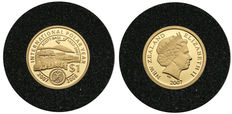 New Zealand - 1 Dollar 2007 International Polar Year - 50th Anniversary of Scott Base - Gold