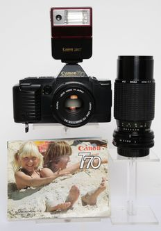 Canon T 70 with accessories from 1984