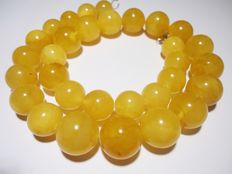 Baltic yellow amber necklace, 62 g