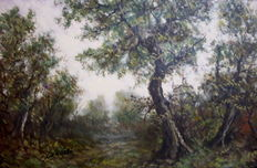 Unknown artist (signed G. Nardi, 20th century) - Bosco d'autunno