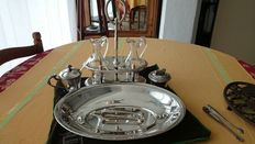 "5 piece table set, ""pearls"" model by christofle"
