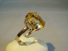 Large genuine citrine ring approx. 6 ct.