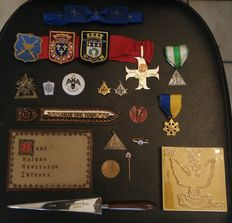Lot of accessories and insignia Freemasonry -21 items