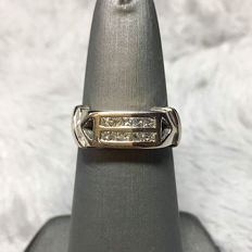 18kt white gold with diamond ring, 0.50ct total