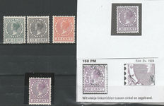 The Netherlands 1924/1926 - Wilhemina type 'Veth' incl. plate flaws NVPH 137P and Mast 158PM