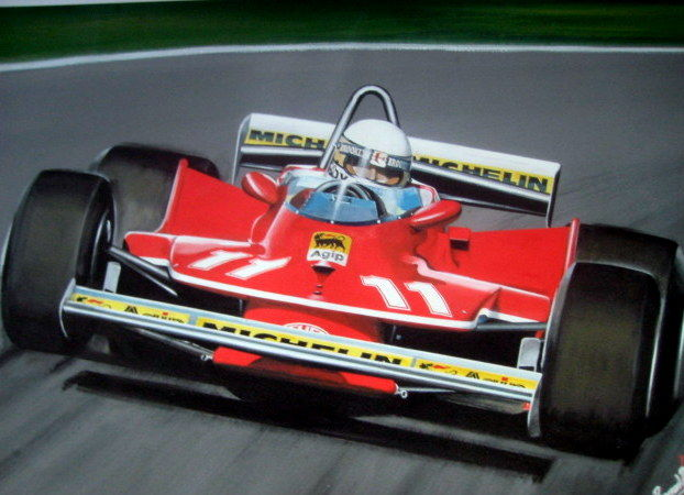 Fine Art Print : Ferrari 312T4 #11 - Jody Scheckter at the Nürburgring