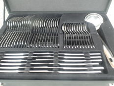 49-piece stainless steel cutlery for 12 persons in nice suitcase