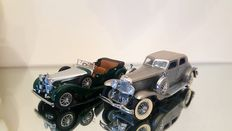 Franklin Mint - Scale 1/24 - Alvis 4.3 litre 1938 and Duesenberg SJ Twenty Grand 1933