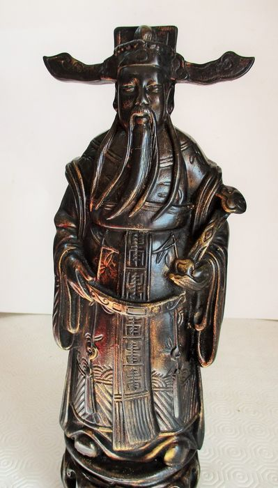Hand painted Caishen the Chinese/Taoist god of prosperity