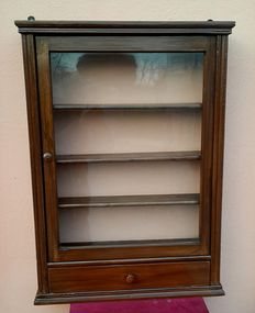 Antique display cabinet, wall,-Veneto, Italy-painted wood