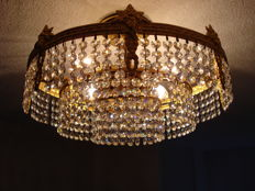 Ceiling lamp with Swarovski crystals.