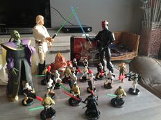 Star Wars - different size figures - Hasbro, Applause and others - Luke, Darth Maul, Xizor, Anakin, Jar Jar Binks, Opee