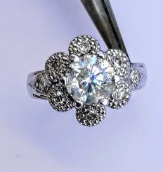 Anillo Diamantes talla Brillante de  1,82 ct. total