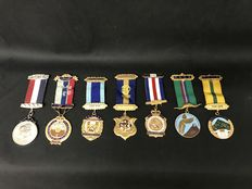 Lot of  7 Masonic medals