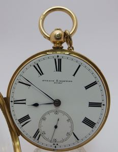 Straub and  Hebting  London – Pocket watch, Lepine, Verge – Ca. 1875