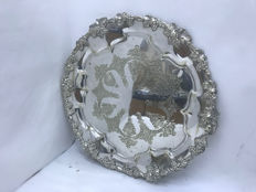 Silver plated tray, England, approximately 1890