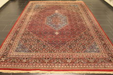 Distinguished hand-woven oriental carpet, Indo Bidjar Herati 255 x 360 cm, made in India at the end of the 20th century