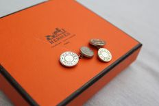 Hermes sterling silver cuff links
