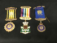 Lot of  3 Masonic medals