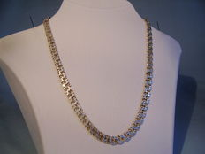Strong tapering silver Bismarck necklace, around 1935/40
