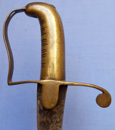 C.1800's Napoleonic East India Company(?) Native Cavalry Trooper's Sword