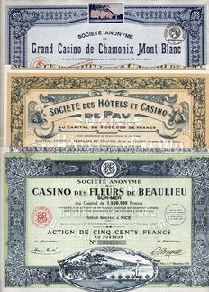 France - 3x French Casinos - 1923/1928