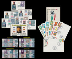 Italian Republic – Lot composed of: 1992, Christopher Columbus, 5th Centenary from the discovery of America, ITA-SPA-POR-USA joint issue – 1990, Football World Cup 'Italy 90' – FDC, Complete collection