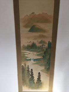 Scroll painting landscape scenery - Japan - late 19th century