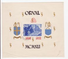 Belgium 1928 and 1942 - Collection of Orval Abbey Sheets with First Orval Series.