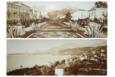 Jean Giletta (1857-1933), 2 panoramic pictures of Menton, Côte d'Azur, France