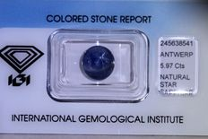 Star Sapphire – 5.97  ct – Asterism Effect