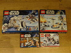 Star Wars - 8089 + 7749 + 7913 + 8084 - Hoth Wampa Cave + Echo Base + Clone Trooper Battle Pack + Snowtrooper Battle Pack
