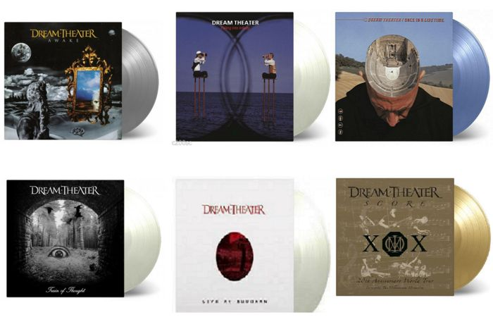 dream theater vinile  Dream Theater Numbered Limited Edition Colour Vinyl LP Collection ...