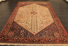 Old hand knotted Persian carpet Abadeh around 1980 Made in Iran (Persia) 209 x 308 cm Carpet