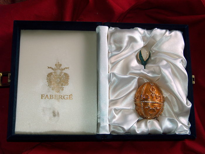 Original Faberge Golden Egg  - Original Box  - COA
