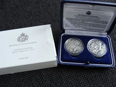 "San Marino, 5 and 10 Euro coin 2003 ""Olympic Games 2003"" - silver."