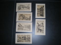 Belgium-109 cards Bruges early last century