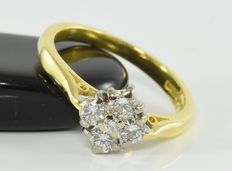 0.50 ct diamond ring in 18 kt gold * no reserve *