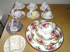 20 piece lot with ROYAL ALBERT porcelain cups and saucers