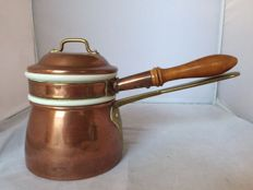 Red copper double boiler-stamped