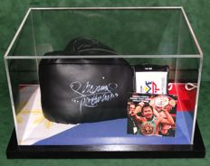 Manny 'Pac-Man' Pacquiao original autographed Boxing Glove in Display Case + Certificate of Authenticity