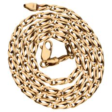 Yellow gold curb link necklace of 14 kt – 44 cm