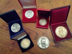France – 20th century – Lot of 6 medals (Toulouse, Paris, Poitiers...)