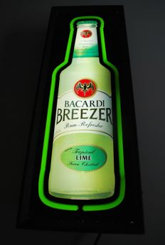 Light box Bacardi Breezer-late 20th century