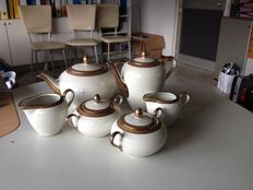 Winterling - Tea set in porcelain and pure gold