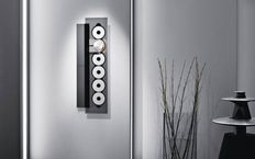 Bang & Olufsen BeoSound 9000 with a vertical wall bracket