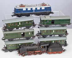 Märklin H0 - 3003/3034/4002/4003 - 2 passenger carriages with BR24, E41 & 6 passenger carriages of the DB