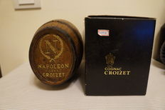 Cognac Croizet Napoléon in a Wooden Barrel Case, Original Gift Box Included
