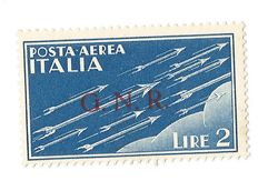 Italy 1943, Italian Socialist Republic – 2 Lire with GNR overprint Type 1 from Brescia –