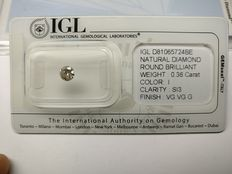 0.36 ct Round cut diamond I SI3
